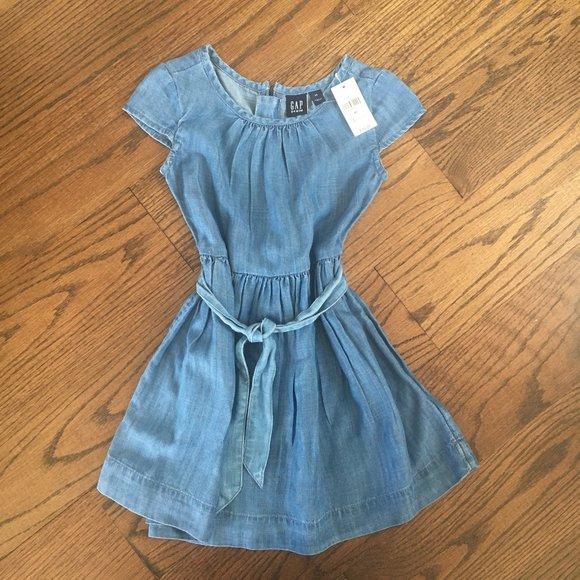 NWT Gap Denim Girls Dress - Size XS